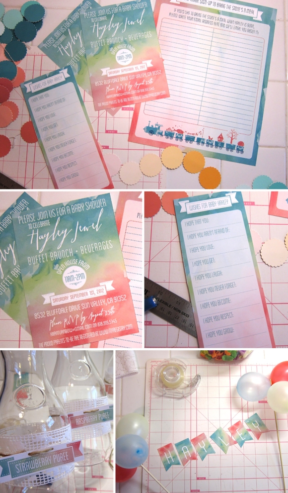 watercolor baby shower paper goods eyeheartprettythings