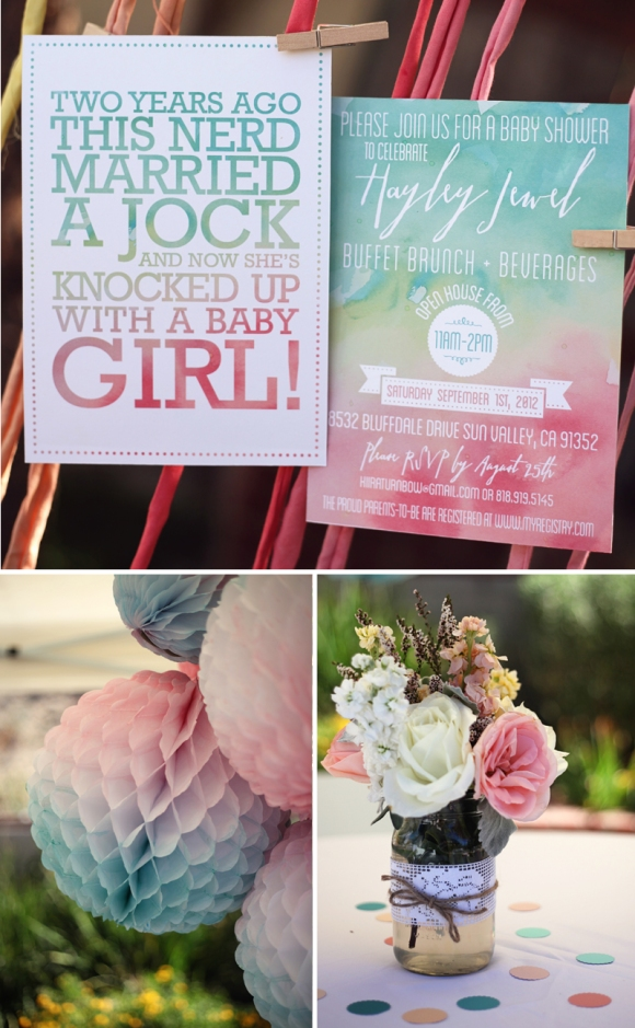 watercolor baby shower for amy eyeheartprettythings