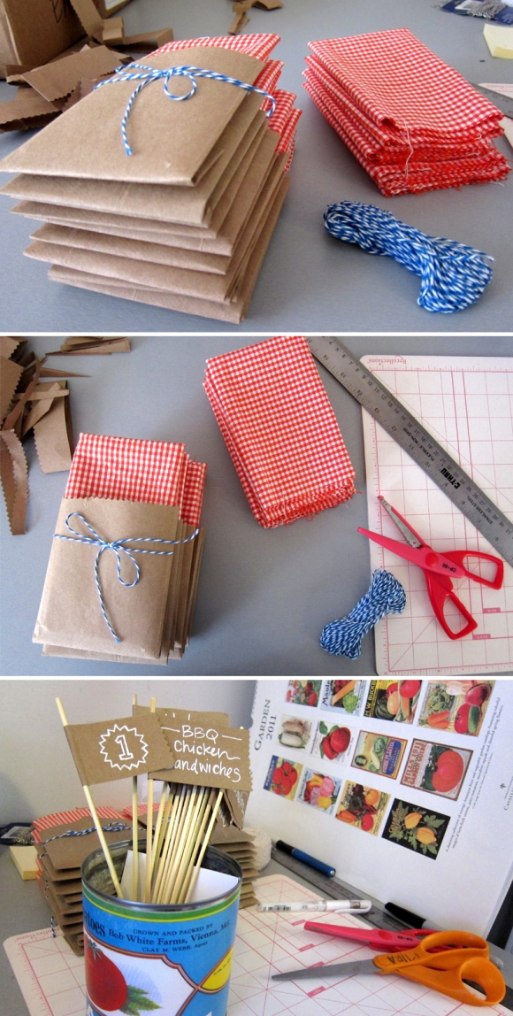 eyeheartprettythings+diy+farmersmarket+gingham+napkin+flags