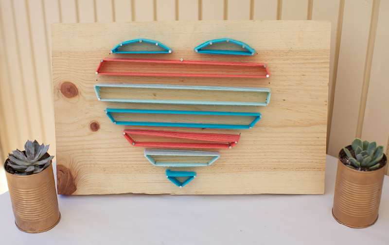 Eyeheartprettythings diy babyshower monogram yarn string for Stuff to make with string