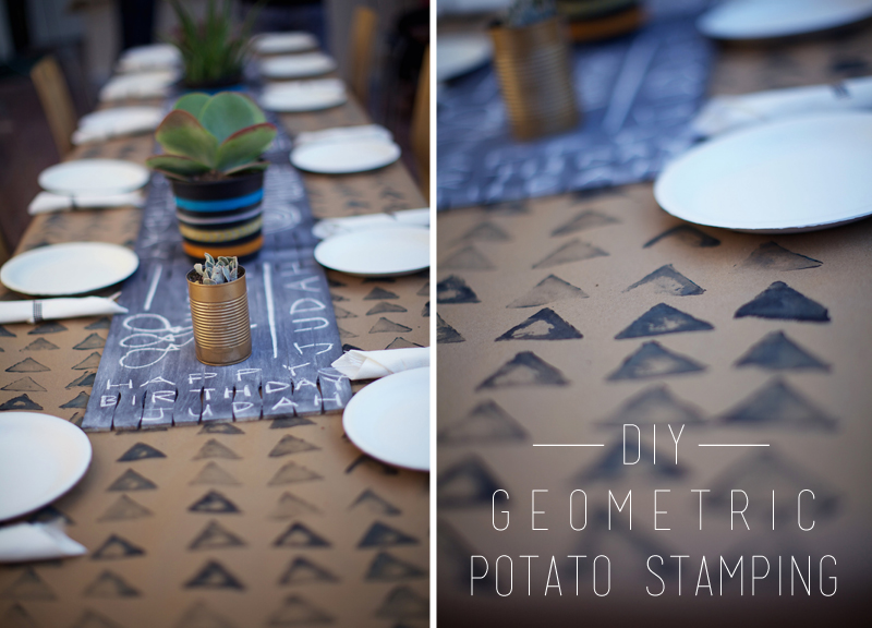 DIY Geometric Felt Table Runner