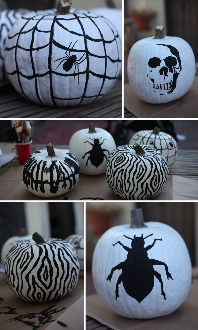 classic diy black white pumpkins eyeheartprettythings
