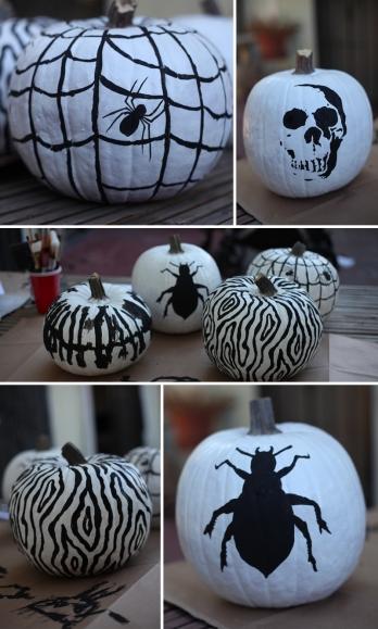 eyeheartprettythings-halloween-blackwhite-pumpkins-diy-2