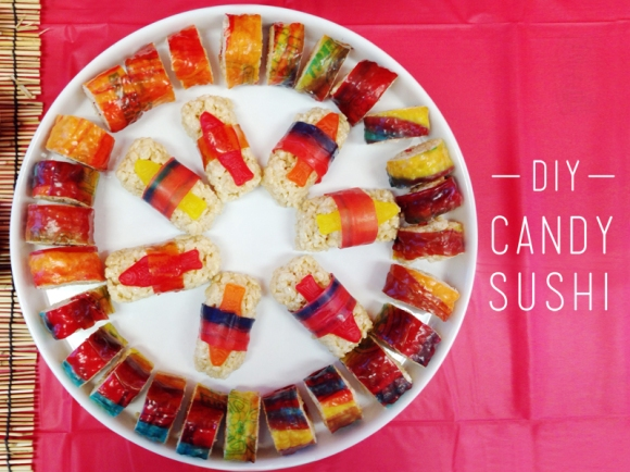 eyeheartprettythings candy sushi diy ninja birthday party